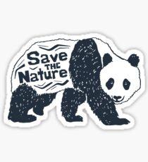 """Save the Nature"" Panda Sticker"