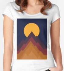 Geometric landscape 01 Women's Fitted Scoop T-Shirt