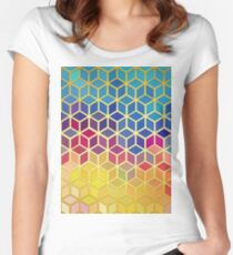 Art with gold 04 Women's Fitted Scoop T-Shirt