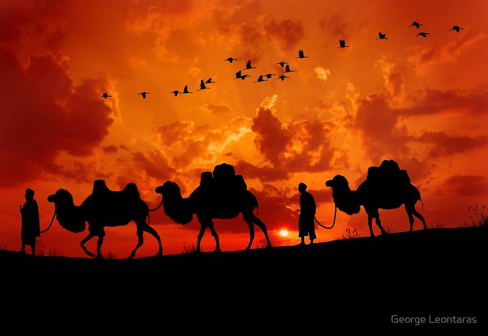 The wayfarers by George Leontaras