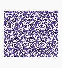 White Doves Ultra Violet pantone Color of the year 2018 Photographic Print