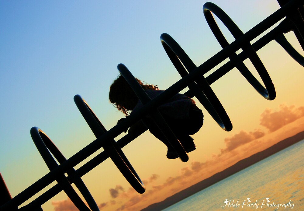 A child shadow by Adele Pardy