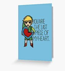 Legend Of Zelda - The Last Piece Greeting Card