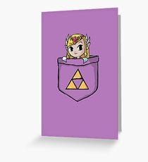 Legend Of Zelda - Pocket Zelda Greeting Card
