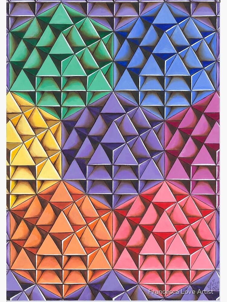 The Infinite 64 Tetrahedron Grid by Francescalove