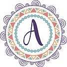 Monogramm-Buchstabe A | Personalisiert | Böhmisches Design von PraiseQuotes