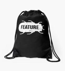 Feature Or Bug? - Funny CS Software Developer Design Drawstring Bag