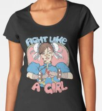 Fight Like A Girl - Chun Li (Street Fighter) Women's Premium T-Shirt
