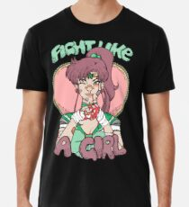 Sailor Moon- Fight Like a Girl (Sailor Jupiter) Men's Premium T-Shirt