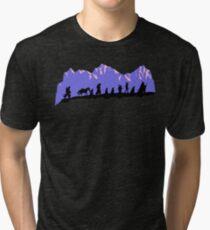 Camiseta de tejido mixto Compañerismo en la tarde