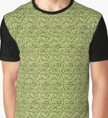 Green Zig-Zag Knit Graphic T-Shirt
