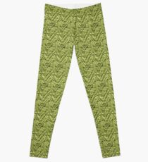 Green Zig-Zag Knit Leggings