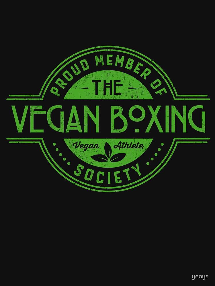 Vegan Boxing Athlete Society Club Member Gift von yeoys