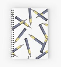 Pencils over Bullets Spiral Notebook