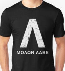 Distressed Spartan Lambda - Molon Labe Unisex T-Shirt