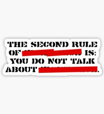 the second rule Sticker