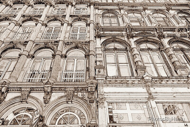 Facades - line art by Photos by Healy