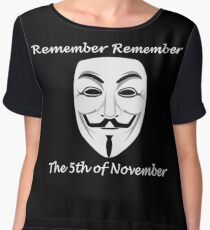 Guy Fawkes - Remember Remember Women's Chiffon Top