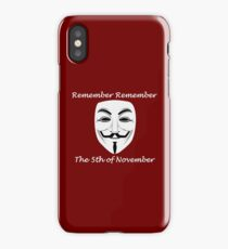 Guy Fawkes - Remember Remember iPhone Case