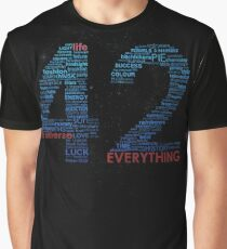 Life, The Universe, and Everything- Hitchhiker's Guide to the Galaxy Graphic T-Shirt