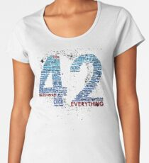 Life, The Universe, and Everything- Hitchhiker's Guide to the Galaxy Women's Premium T-Shirt