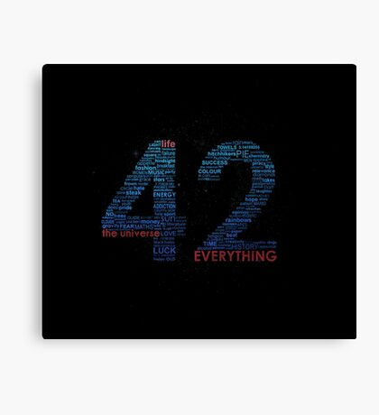 Life, The Universe, and Everything- Hitchhiker's Guide to the Galaxy Canvas Print