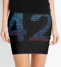 Life, The Universe, and Everything- Hitchhiker's Guide to the Galaxy Mini Skirt