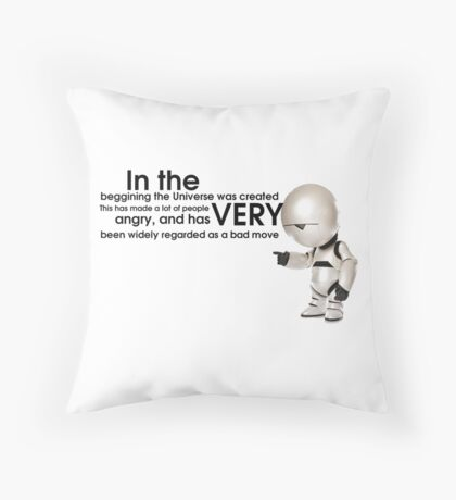 Universe Creation - Hitchhiker's Guide to the Galaxy Throw Pillow