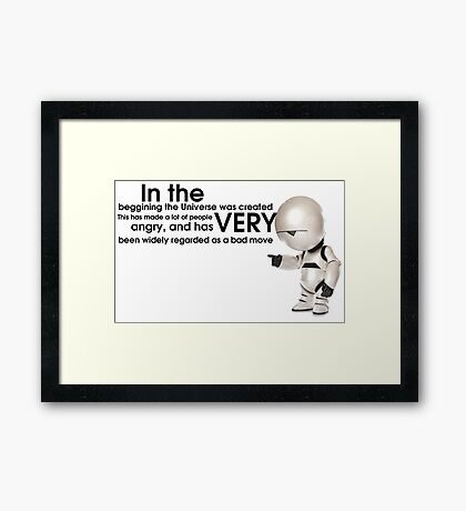 Universe Creation - Hitchhiker's Guide to the Galaxy Framed Print