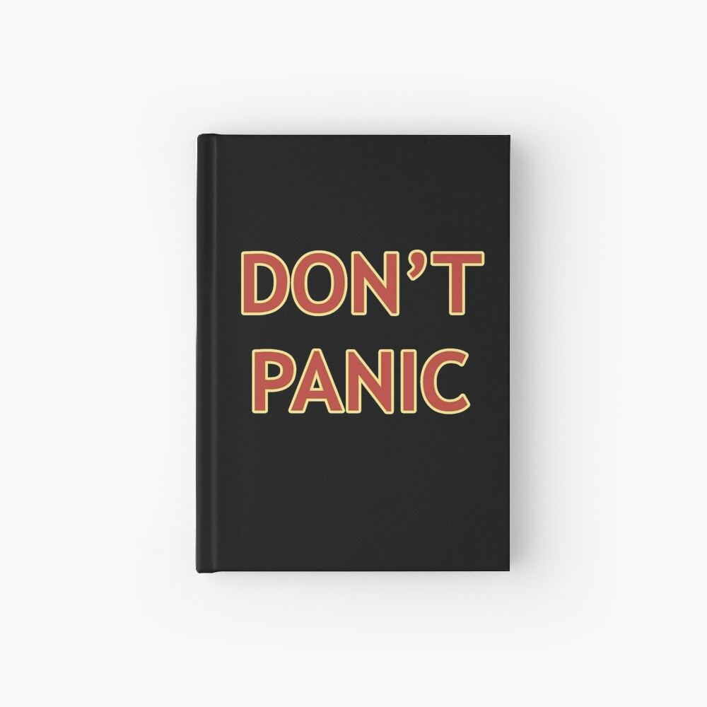Don't Panic - Hitchhiker's Guide to the Galaxy Hardcover Journal