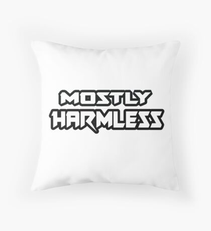 Mostly Harmless - Hitchhiker's Guide to the Galaxy Throw Pillow
