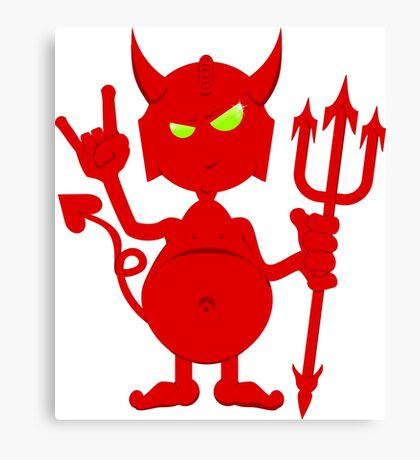 The Devil Rocks VRS2 Canvas Print