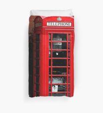Red Phone Box- London England UK Duvet Cover