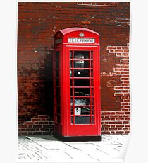Red Phone Box- London England UK Poster