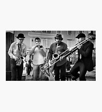 street musicians Photographic Print