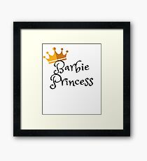 Barbie Princess Framed Print