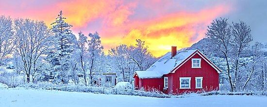Scandinavian Sunset Glow by Adam Gormley