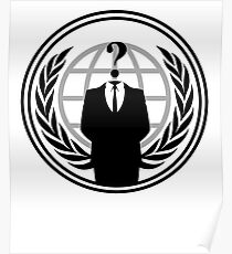 Anonymous Badge Stand and Protest Poster