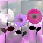 Daisies Abstract by Peggy Garr