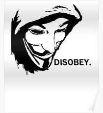 Anonymous Disobey Protest Poster