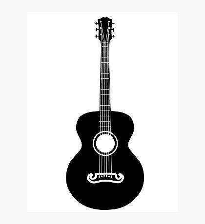 Akustische Gitarre Silhouette Fotodruck