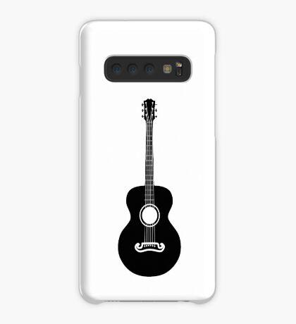Akustische Gitarre Silhouette Hülle & Klebefolie für Samsung Galaxy