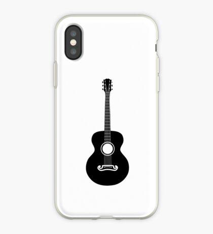 Akustische Gitarre Silhouette iPhone-Hülle & Cover