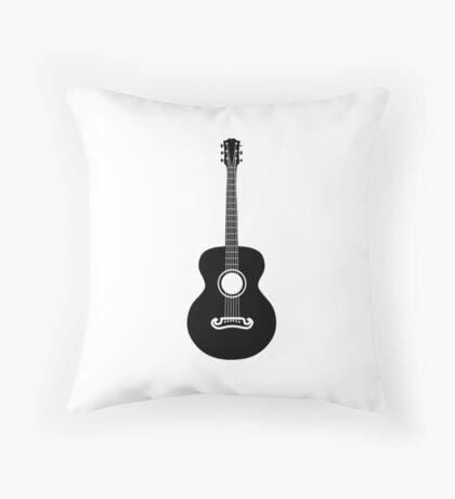 Akustische Gitarre Silhouette Dekokissen