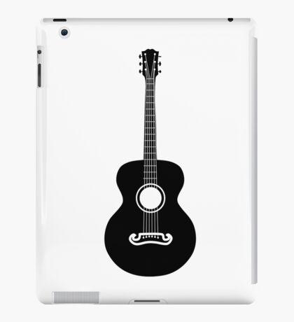 Akustische Gitarre Silhouette iPad-Hülle & Klebefolie