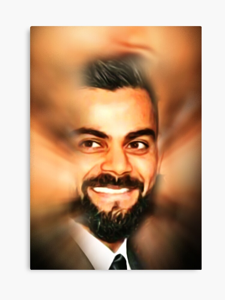 Artwork Virat Kohli Oil Painting