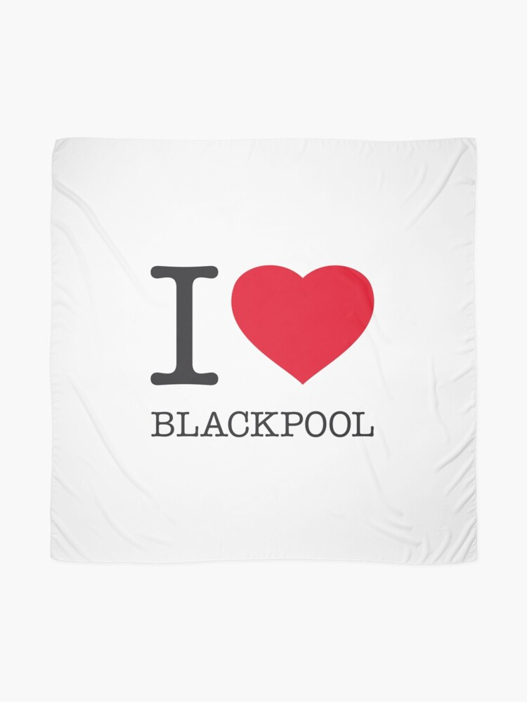 Alternate view of I ♥ BLACKPOOL Scarf