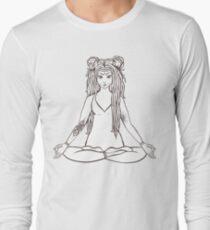 Meditating Girl with Tattoos // Yoga T-Shirt