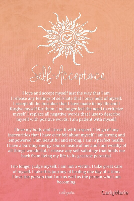 Quot Affirmation Self Acceptance Quot By Carlymarie Redbubble