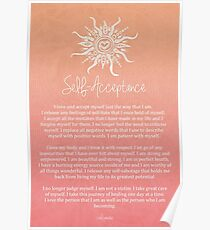 Affirmation - Self-Acceptance Poster